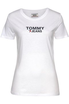 tommy jeans t-shirt »tjw corp heart logo tee« wit
