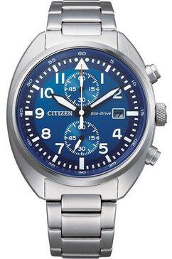 citizen chronograaf »ca7040-85l« zilver