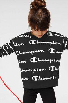 champion sweatshirt »crewneck croptop« zwart