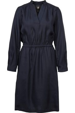g-star raw jurk met overhemdkraag »ogee straight flare dress« blauw