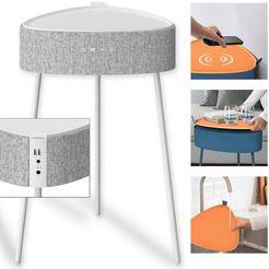 fontastic bluetooth-luidspreker »mesu draadloze luidspreker-tafel« wit