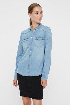 vero moda jeansblouse »vmmaria« blauw