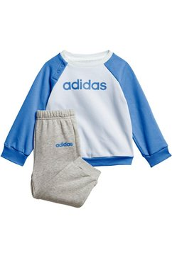 adidas joggingpak »linear jogger fleece« (set, 2 tlg.) blauw