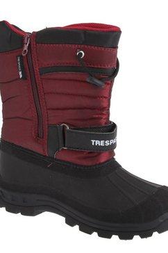 trespass snowboots »dodo youth unisex kinder schnee stiefel wasser abweisend« rood