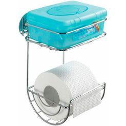 wenko toiletrolhouder zilverkleur