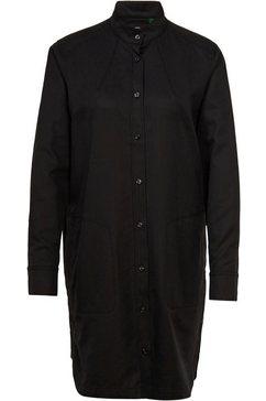 g-star raw jurk met overhemdkraag »milary shirt dress« zwart