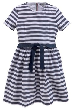 tommy hilfiger zomerjurk »nautical stripe dress« blauw