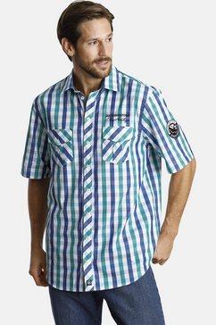 jan vanderstorm overhemd met korte mouwen »olvar« multicolor