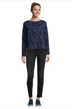 bettyco sweater met knoopsluiting »mit u-boot-ausschnitt« blauw