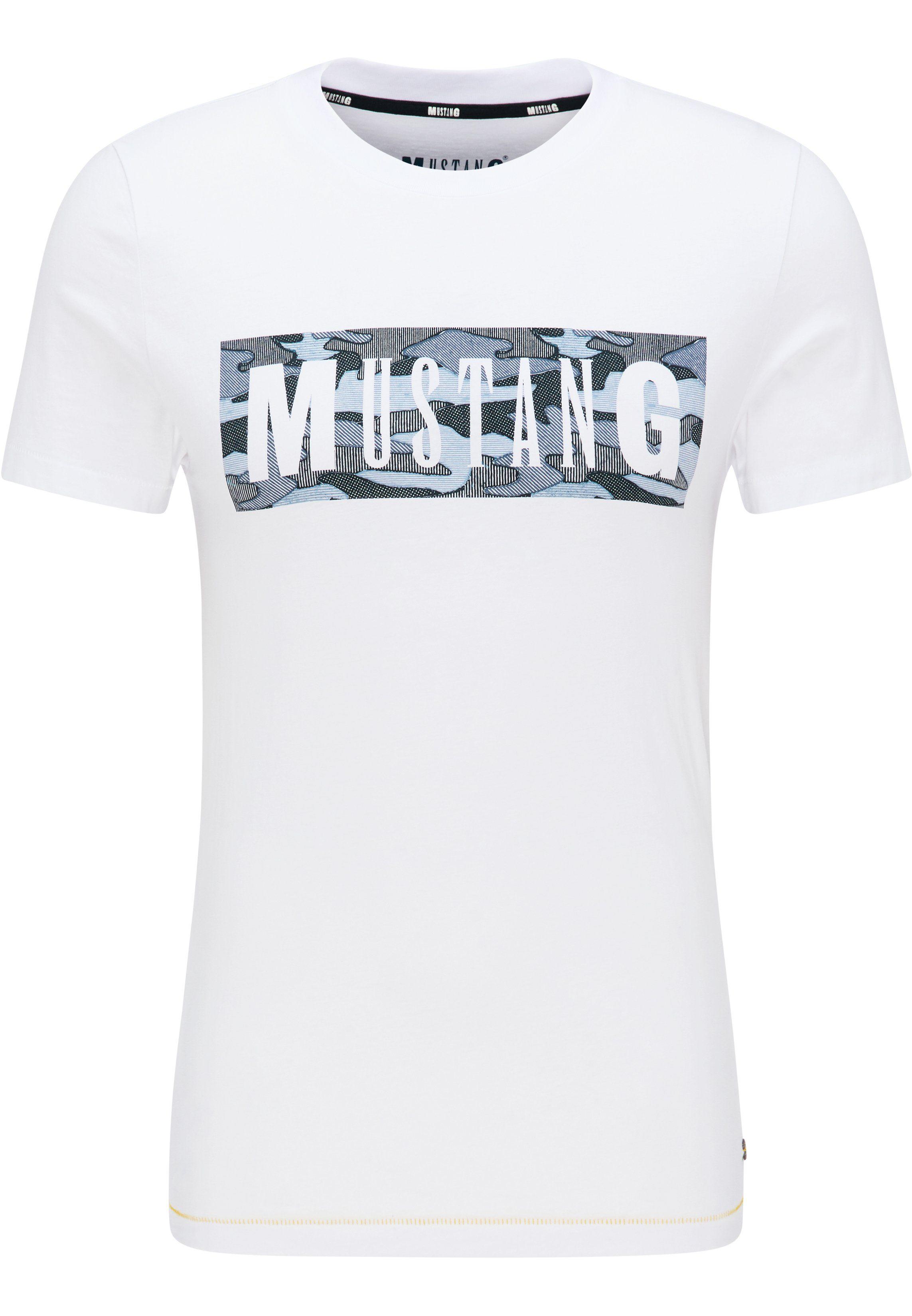 MUSTANG t-shirt  Aaron C Print makkelijk gevonden