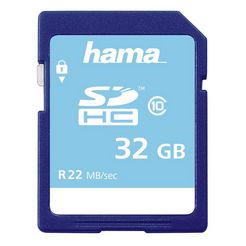 hama geheugenkaart sdhc 32 gb class 10 high speed memory card »sd 2.0 kaart ideaal voor full hd« blauw