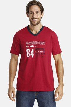 jan vanderstorm shirt met v-hals »rasofiel« rood