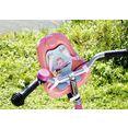 baby annabell poppen fietsstoeltje roze