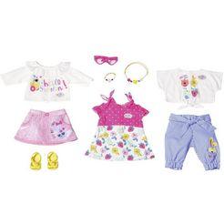 baby born poppenkleding holiday modeset voorjaar (set, 9 delig) multicolor