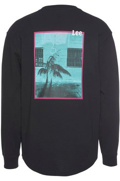 lee shirt met lange mouwen zwart
