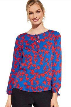 comma gedessineerde blouse blauw