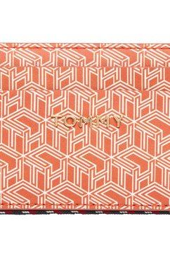 tommy hilfiger portemonnee »iconic tommy cc mono« oranje