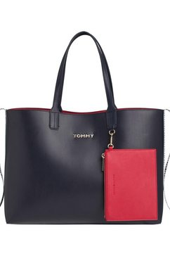 tommy hilfiger shopper »iconic tommy tote« blauw