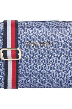 tommy hilfiger mini-bag »iconic tommy camera bag monogram« blauw