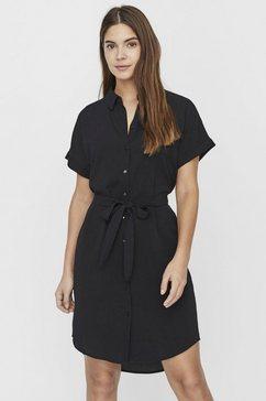 vero moda blousejurkje »vmsasha shirt dress« zwart