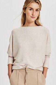 opus shirt met lange mouwen »sutton« beige