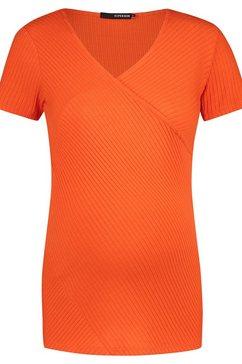supermom voedings t-shirt »crossed rib nurs« oranje