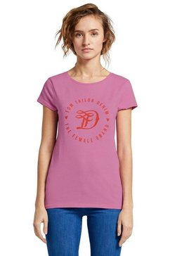 tom tailor denim shirt met korte mouwen roze