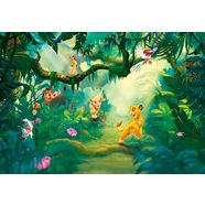 komar fotobehang »papiertapete lion king jungle« multicolor