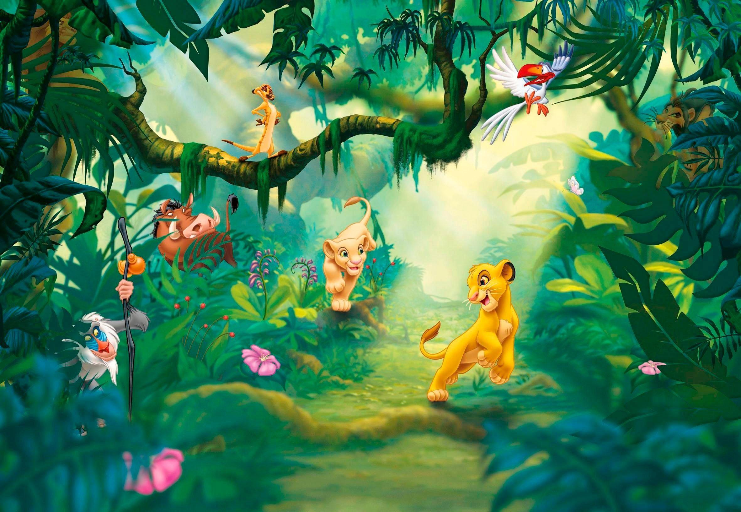 Komar fotobehang »Papiertapete Lion King Jungle« bij OTTO online kopen