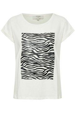 cream shirt met ronde hals »piacr« weiß