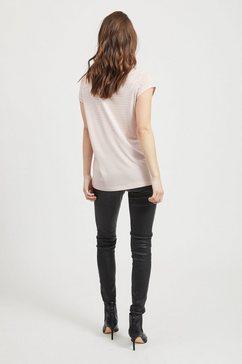 vila shirt met v-hals »viscoop« roze