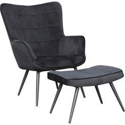 homexperts zithocker »ulla« (1 stueck) zwart