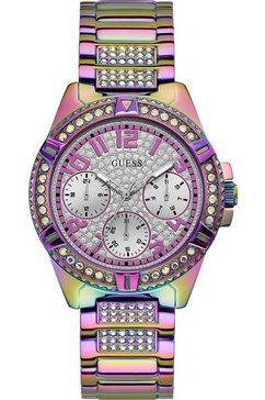 guess multifunctioneel horloge »lady frontier, gw0044l1« paars