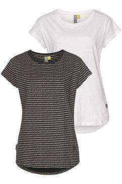 alife and kickin shirt met ronde hals »lilly« (set, 2-delig) zwart