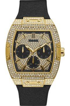 guess multifunctioneel horloge »phoenix, gw0048g2« zwart