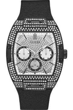 guess multifunctioneel horloge »phoenix, gw0048g1« zwart