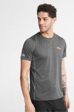 superdry sport t-shirt »training tee« grijs