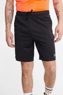 superdry sport sportbroek »training shorts« zwart