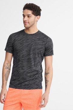 superdry sport shirt met korte mouwen »training lightweight refl tee« zwart