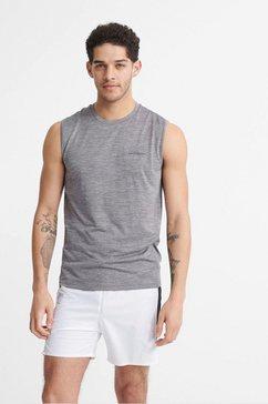 superdry sport muscle-shirt »training tank« grijs