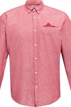 esprit overhemd met lange mouwen rood