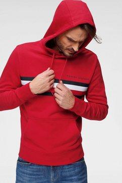 tommy hilfiger hoodie »hilfiger logo hoody« rood