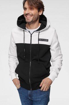 calvin klein capuchonsweatvest »color block zip through hoodie« wit