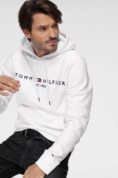tommy hilfiger hoodie »tommy logo hoody« wit