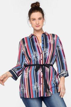 sheego lange blouse multicolor