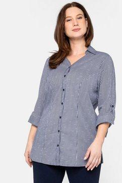 sheego lange blouse blauw