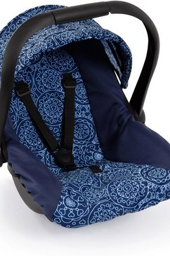 bayer poppen autostoel blauw