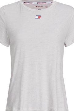 tommy sport functioneel shirt »performance lbr top« grijs