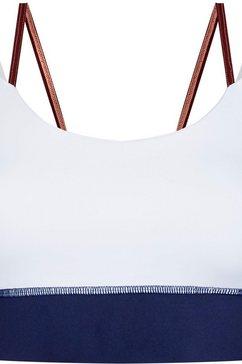 tommy sport sportbustier »double strap mid support bra« blauw