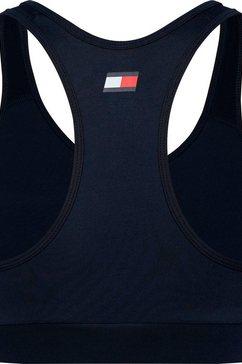 tommy sport sportbustier »mid support bra logo« blauw